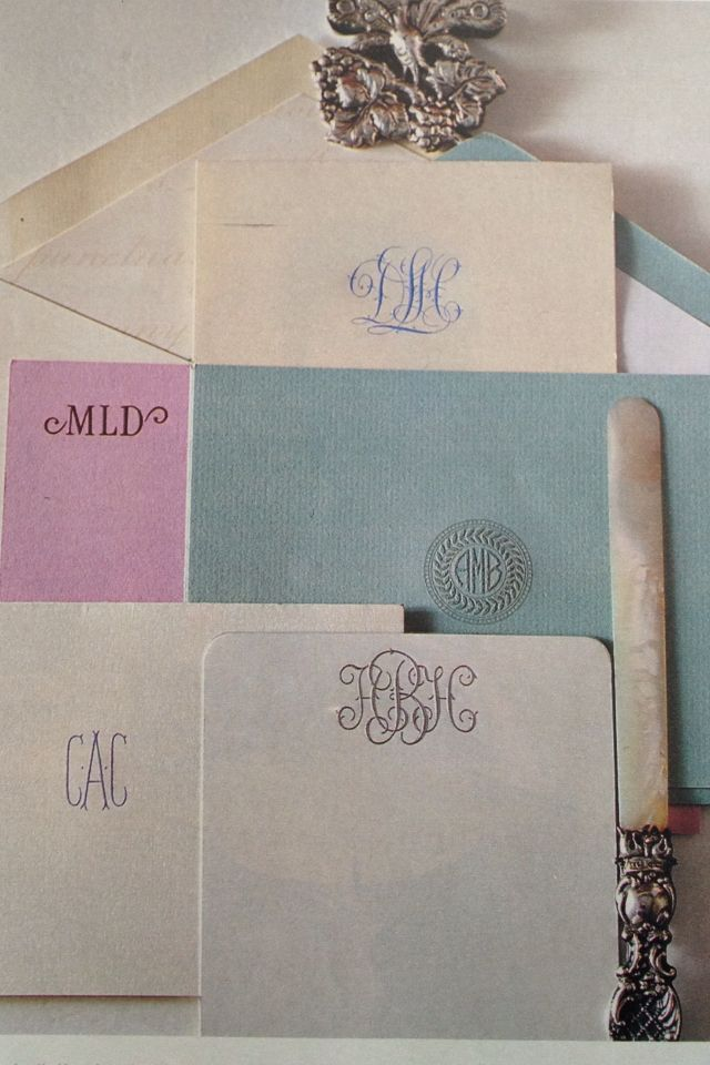 Southern Belle Essentials: Monogram Stationery