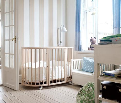 Dormitorio bebe neutro deco infantil habitacion bebe - Papel pintado bebe nina ...