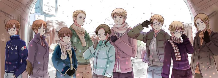 Hetalia <<<<But look at how short Japan is compared to the others I can't take it