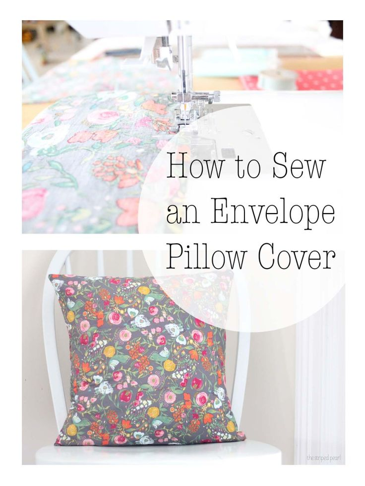 How to Sew a Pillow Cover for a 16 by 16 inch Pillow Form