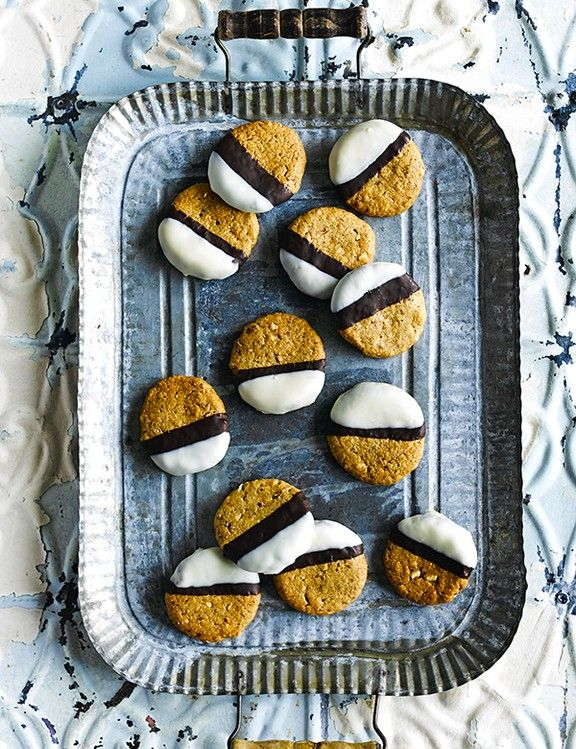 Easy Peanut Butter Cookies Recipe Chocolate and peanut butter is a classic combination, and these double-dipped peanut biscuits really make the most of it. They're super easy to make and are a delicious sweet treat.