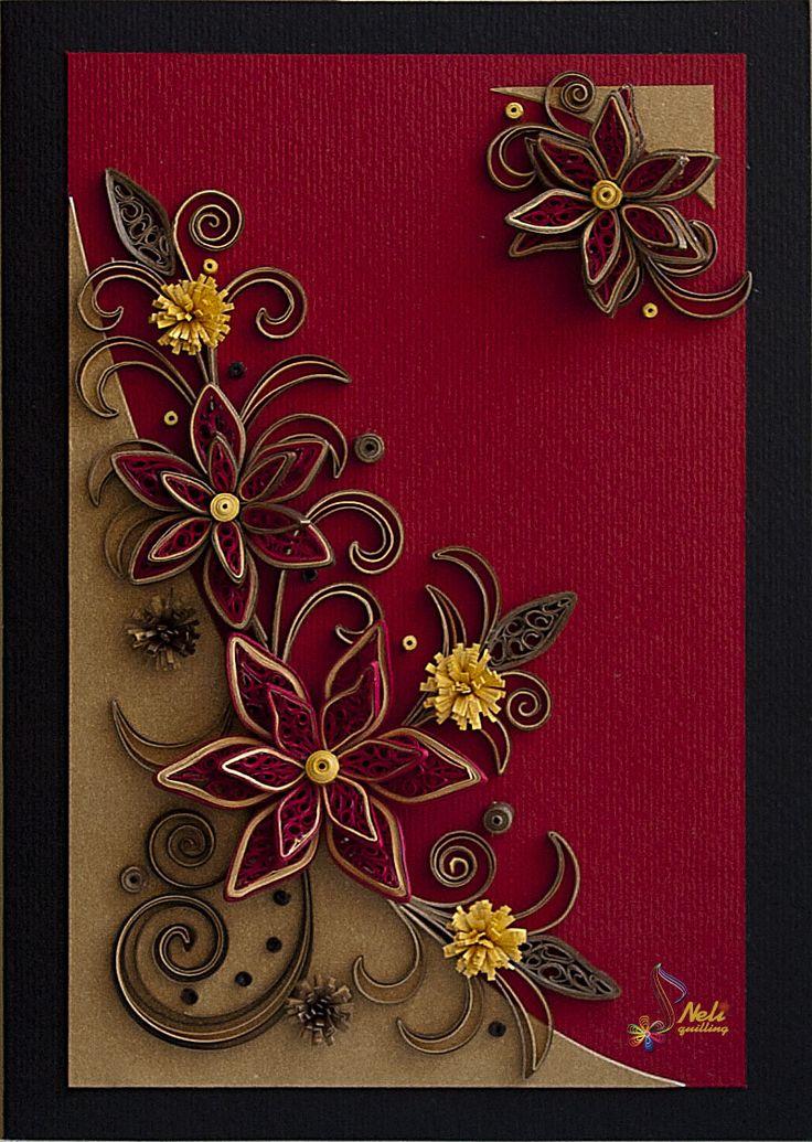 Квиллинг на открытку