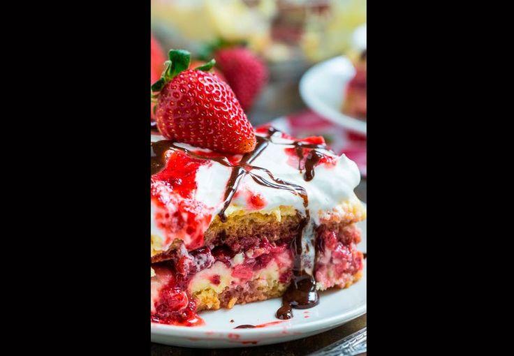 En drøm af en jordbær-lasagne-kage!