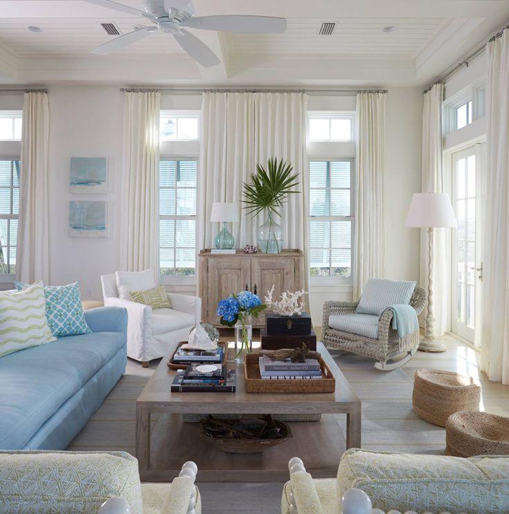 lovely beach house living room | 2488 best Lovely Living Rooms images on Pinterest | Homes ...