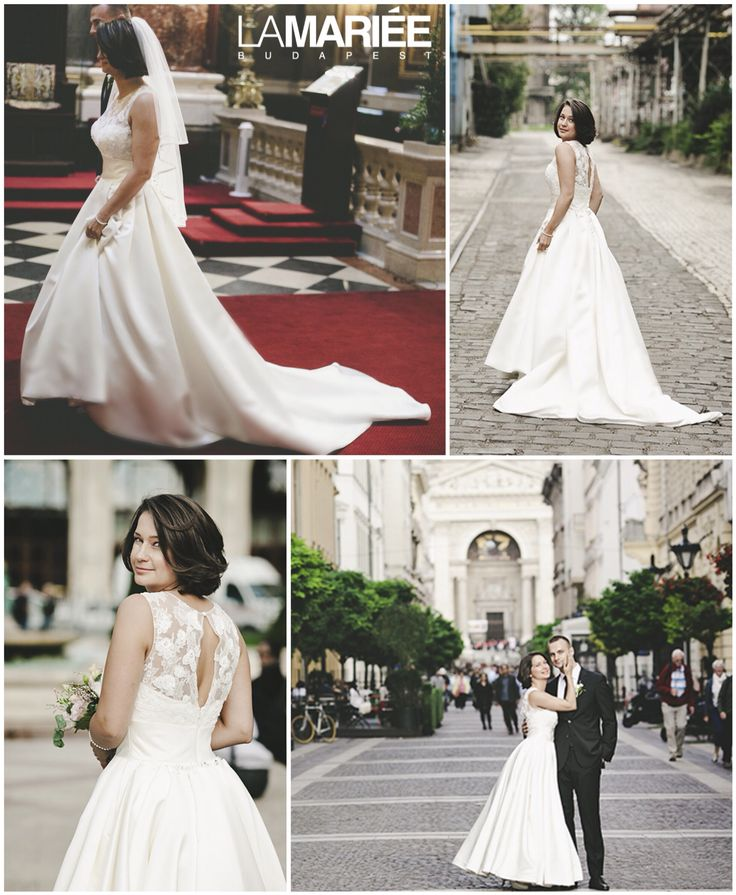 Pronovias Dalia esküvői ruha Eszter menyasszonyunkon http://mobile.lamariee.hu/menyasszonyi-ruha-kollekciok/eskuvoi-ruhak/pronovias-2015