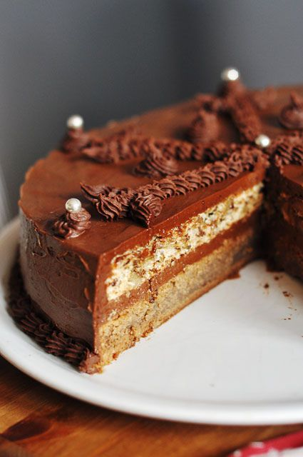 """Theodora Torte (scroll down for translated recipe) """"Theodora is one of those cakes you never forget. It's not the easiest torte, and by that I mean it's more time-consuming than requiring special skills to make. But all the trouble you put in will be highly rewarded. The cake is rich and sumptuous, with an intensive walnut-mocha aroma."""""""