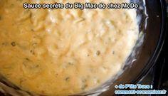 ingrédients de la sauce secrète du big mac de chez mc do
