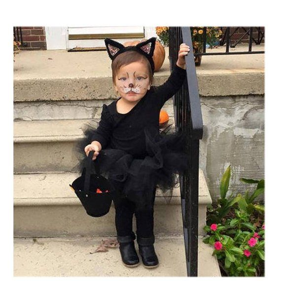 Toddler Cat Costume Complete 5 Piece Cat Costume Toddler Halloween