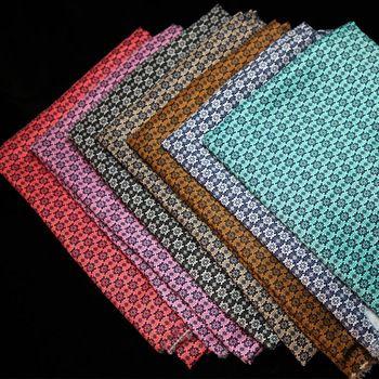 7 couleurs en option mode imprimé floral tissu pour coudre bricolage quilting literie textile tissé patchwork tissu 50 * 50 cm