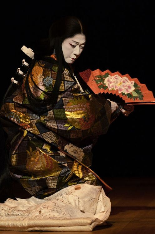 Bando Tamasaburo. Kabuki theatre, Japan. Photographer unknown.j坂東玉三郎。人間国宝。