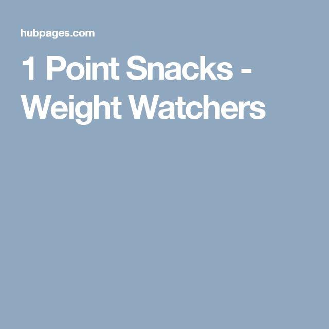 1 Point Snacks - Weight Watchers