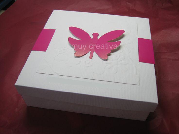 Caja tarjeta mariposa quince años