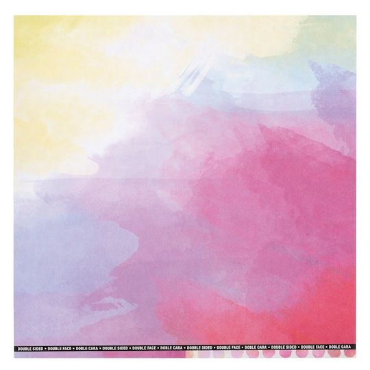 Multi Watercolor Double Sided Scrapbook Paper By Recollections