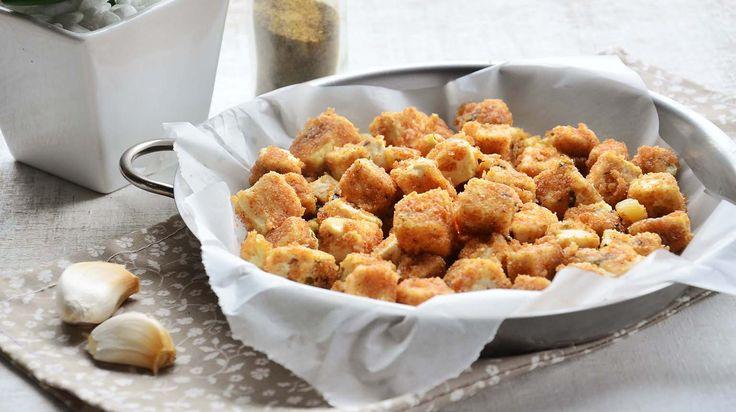 TOFU EMPANADO NO FORNO (dica - marinada p/ tofu)