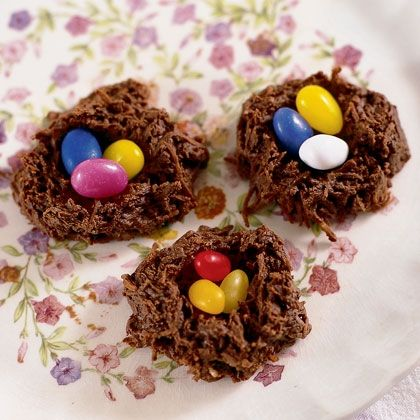 Hummingbird NestsEaster Recipes, Hummingbirds Nests, Hummingbird Nest, Chocolates Coconut, Food, Easter Eggs, Jelly Beans, Coconut Nests, Easter Treats