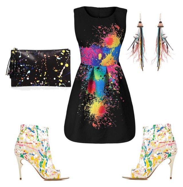 """#colors"" by sanikova on Polyvore featuring Jerome C. Rousseau, Loeffler Randall and Etro"