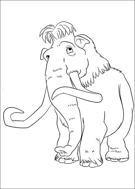 Ice Age Målarbilder för barn. Teckningar online till skriv ut. Nº 15