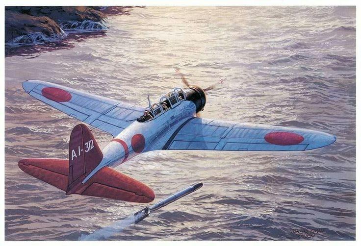 B5N2 Kate torpedo run at Pearl Harbor