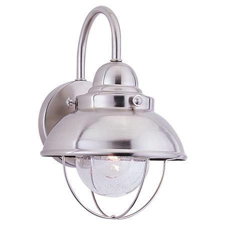 Nantucket Outdoor Light - Small - stainless..for the girls' bathroom?