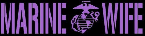 Marine Wife Vinyl Decal- United States Marine Corps USMC Sticker Auto | LilBitOLove - Housewares on ArtFire