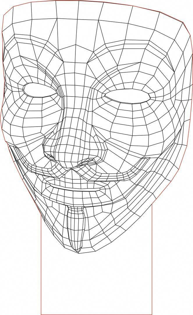 Acrile Led Anonymous Mask 3d Illusion Lamp Vector File Ledlamp Illusions 3d Light