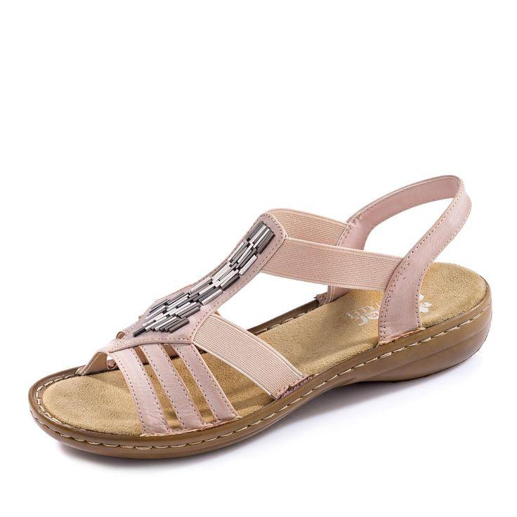 Rieker Sandale für nur 49,95€ (05.02.17) in Farbe rosé jetzt bei gebrüder götz online kaufen!