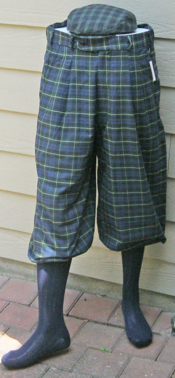 Men Modern Gordon Tartan Golf Knickers-Cap & socks