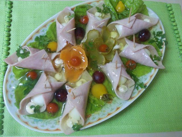 Szynka Z Jajkiem W Galarecie Babci Basi Recipe Cooking Food Caprese Salad