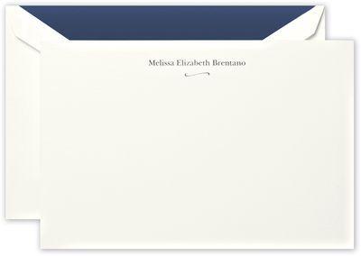 Correspondence Cards with Flourish Motif