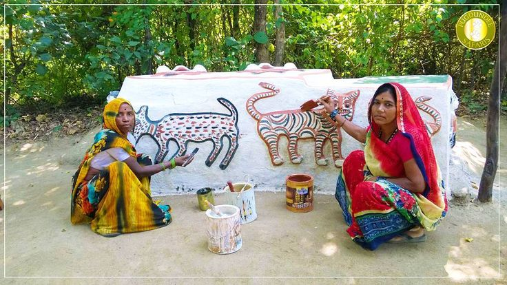 Bagheshur meaning the Tiger God is revered by tribes in Central India especially the Baigas. Baigas are primitive forest dwelling tribes and maybe over 20000 years old.We at Pugdundee Safaris are fortunate to have Tigiya Bai and Munni Bai from the Baiga community as part of our team at Tree House Hideaway from the adjoining village of Rakhi.  Besides their regular role of looking after the kitchen garden and cooking traditional food for guests they sometimes bless us with this slowly…