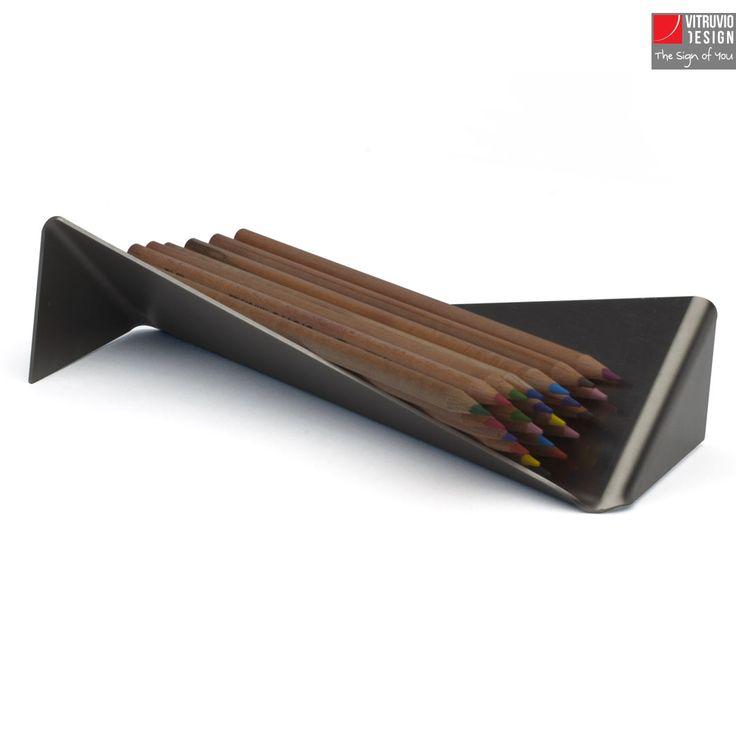 Portapenne di design in acciaio | Made in Italy | Vitruvio Design