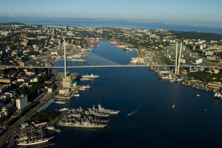 The Golden Horn bay, Golden bridge, filming location in Vladivostok. Primorye Film Commission
