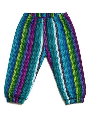 Pantalonki Stripes Blue, Projektant: Pan Pantaloni, Wartość: 98 zł, Radość z bycia matką: bezcenne. Powyższy materiał nie stanowi ofery handlowej