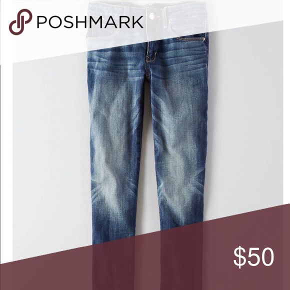 Four pairs of American Eagle jeans size 4petite Four pairs of size four petite skinny jeans from American Eagle bundled together for this price like new worn only a few times just don't fit me anymore American Eagle Outfitters Jeans Skinny