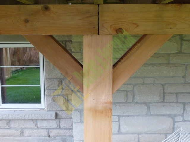 patio deck supporting post deckdesign customdeck. Black Bedroom Furniture Sets. Home Design Ideas