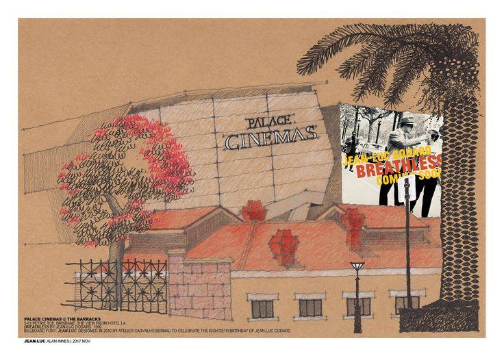 JEAN-LUC | alan innes | nov 2017. Palace Cinemas, Petrie Terrace, Brisbane AU. Billboard: Breathless directed by Jean-Luc Godard, 1960. Billboard font: Jean-Luc designed by Atelier Carvalho Bernau, 2010.