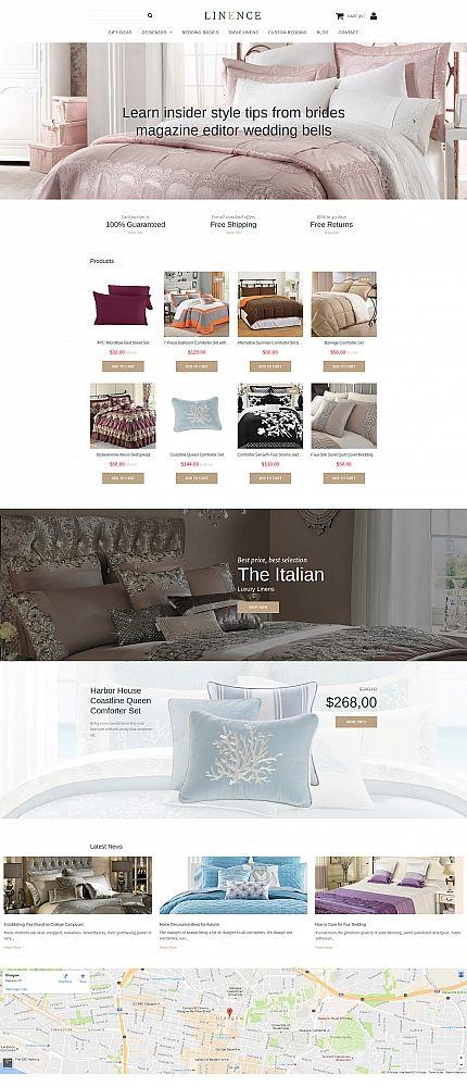 LINENCE - #linen  & #lace  #responsive  MotoCMS #ecommerce  #template