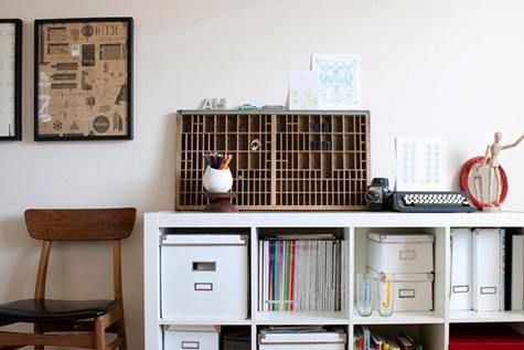 Ikea Expedit Shelving Unit: Ikea Boxes, Bookshelves, Ikea Expedition, Boxes Shelves, Ikea Shelves, Interiors Design, Letterpresses Trays, Photo, Studios Studios