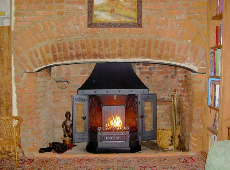 Dovre 2000 wood burning fireplace installed into this old Essex inglenook,  Little Waltham by Scarlett - 17 Best Images About Inglenook Fireplace Restoration With Log