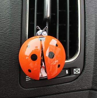 Car Air Freshener Air outlet perfume Auto Creative Ladybug decoration Balsam Automobiles Interior Accessories Supplies Products