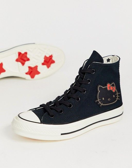 Converse x Hello Kitty Chuck Taylor 70 Hi black trainers in 2019 ... 8f6172e22