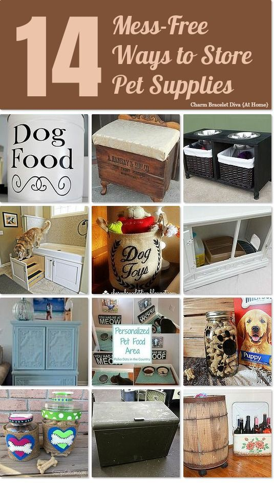 14 Mess-Free and fabulous ways to organize and store pet supplies
