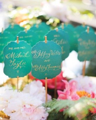 Courtney And Michael's Garden Party Wedding In St. Louis - The Escort Cards