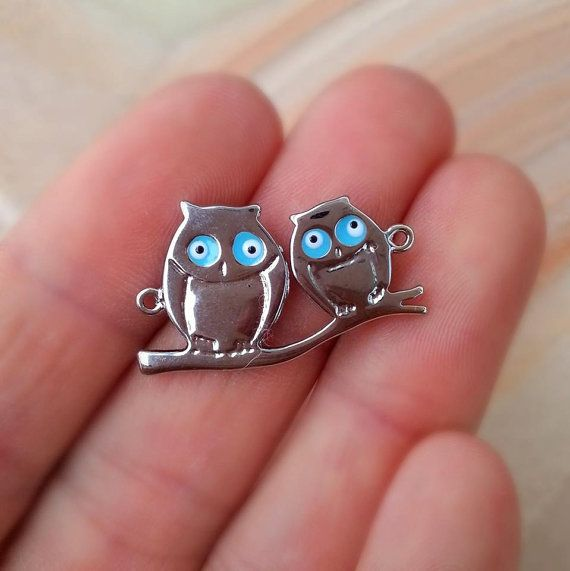 1 PCS Owl On A Branch Connector Love Owl by anatoliantalesupply