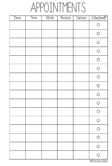 I made this printable because I almost never use my calendar right away when I am at the doctor's office and they tell me when my next appointment is. If you do end up using these I would love to see pictures. Tag me on Instagram @wenduhh_plans or #mswenduhhblog Please do NOT share the actual … Read more...