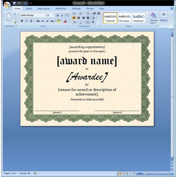 7 Images of Microsoft Word Certificate Template