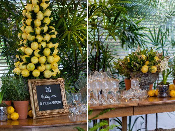 Decoração casamento em casa festa mesa (Foto: Julia Ribeiro)