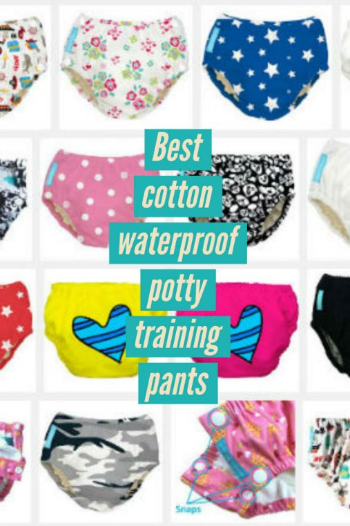 We reviewed the best cloth cotton, waterproof potty training pants for toddler boys and girls.  Reusable training pants that look and feel like real underwear.