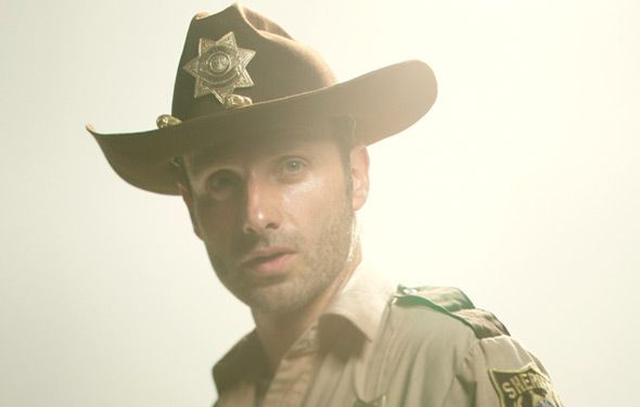 """Rick Grimes is a small-town sheriff's deputy who is wounded in the line of duty and wakes to a zombie apocalypse. Alone, he sets off in search of his wife, Lori, and young son, Carl.     Rick is an everyman — smart, calm, just, a good friend and father — but will often stubbornly cling to his personal strong moral code. """"We don't kill the living,"""" he tells Daryl at gunpoint when the latter attempts to kill an infected survivor."""