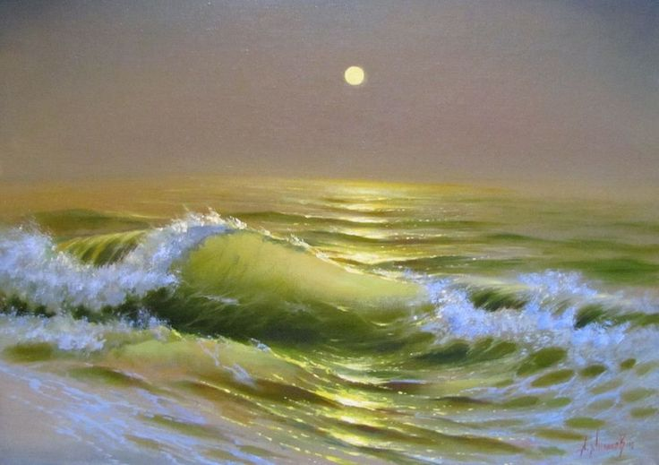 Художник Александр Милюков – замечательный мастер пейзажа, прекрасный маринист, умеющий высоким живописным мастерством, выразить изменчивый, характер морской стихии, в романтической манере изобразить необъятные морские просторы, мощь, величие, неповторимую красоту и могучую силу моря. Он пользуется тонкими нюансами света и тени для более точной и естественной передачи морской шири, движения воды, игры света.